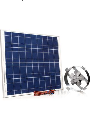 Amtrak Solar's Powerful 70-Watt Galvanized Steel Solar Attic Fan Cools Your House Ventilates Your House, Garage or RV and Protects Against Moisture B for Sale in Norwalk, CA