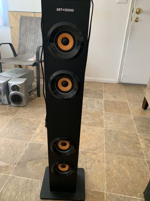 Art+Sound Bluetooth Tower Speaker With LED Accent Light - Black (AR1004) for Sale in Oceanside, CA