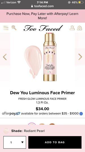 Too faced primer for Sale in Santa Maria, CA