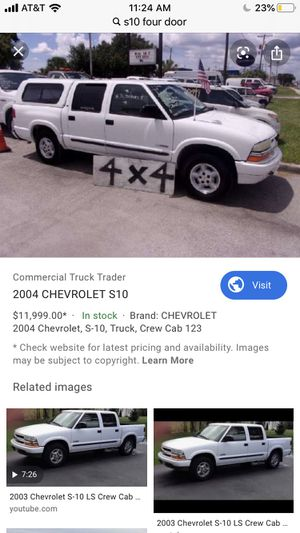 S10 crew cab camper for Sale in Modesto, CA