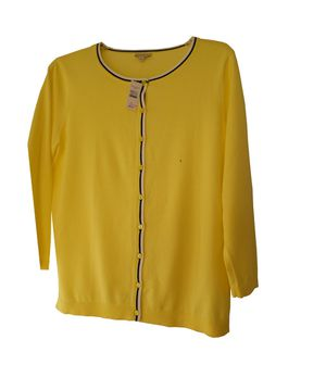 Talbot's Ladies Yellow Knit Cardigan Sweater for Sale in Kenneth City, FL