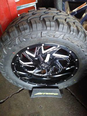 🔅 FINANCE AVAILABLE 🔅 FINANCIAMIENTO DISPONIBLE 🔅set of brand new wheels and tires 🔅 6 lugs 🔅33x1250R20🔅 for Sale in Phoenix, AZ