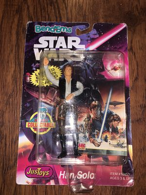 BendEms Bend Ems Star Wars Han Solo Action Figure NEW SEALED 1994 for Sale in Norwalk, CA