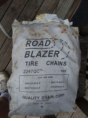 Tire chains for truck ,two pair,fits 4 different size tires for Sale in Kittanning, PA