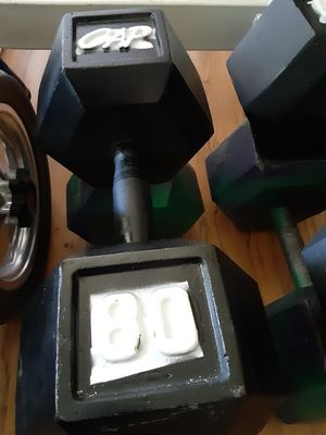 80 lb dumbbells for Sale in San Diego, CA