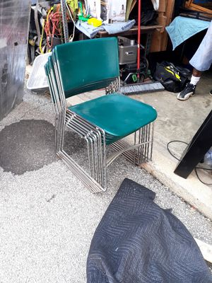 7 heavy duty stack chairs for Sale in Columbus, OH