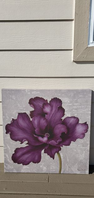 Purple Flower Print on Canvas for Sale in Puyallup, WA