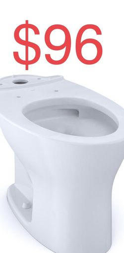 TOTO Drake Elongated Toilet Bowl Only with CEFIONTECT in Cotton White for Sale in South El Monte,  CA