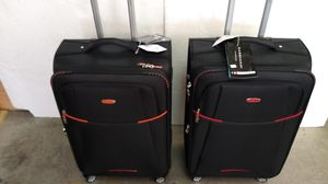 GABBIANO LUGGAGE BLACK/ORANGE AND B/RED $110.00 ($55.00 EACH ONE) BRAND NEW 8 WHEELS SPINNERS LIGHT WEIGHT EXPANDER SYSTEM BUILT-IN TSA LOCK. for Sale in HALNDLE BCH, FL