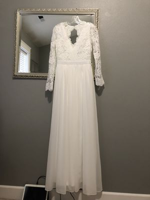 Lulus white lace dress open back | size Large for Sale in Portland, OR