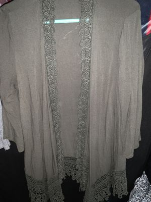 Green cardigan size L maurices for Sale in Lakewood, WA