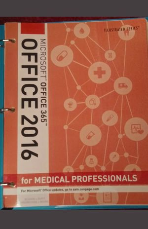 Illustrated Microsoft Office 2016 for Medical Professionals by Lisa(Loose-leaf Version) for Sale in Romeoville, IL