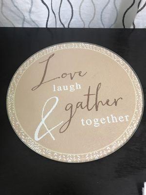 Glass decor / Love Laugh Gather / kitchen plate for Sale in Miami, FL