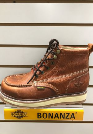 Bonanza work boots, 100% real leather for Sale in Westminster, CA