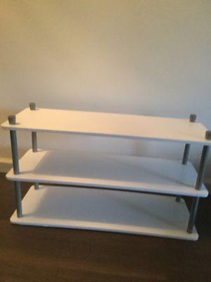 White and silver shelf/shoe holder/closet organizer for Sale in Riverside, CA