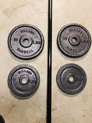 barbell and 30lbs weights for Sale in Fort Washington, MD