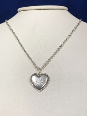 Ladies Silver Tiffany & Co Heart Pendant W/Necklace for Sale in Marietta, GA