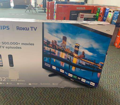 """New Philips ROKU 32"""" TV! Open box and warranty 002D"""