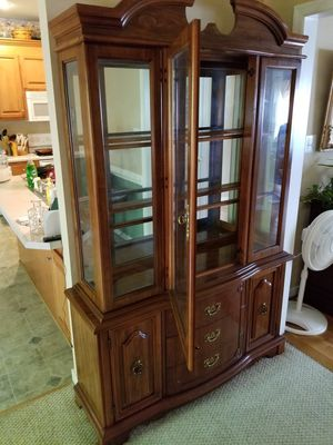 China cabinet glass shelves - inside light for Sale in Midlothian, VA