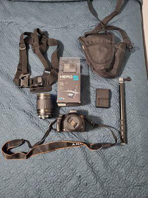 Camera Sony a290 Gopre hero5 for Sale in Belle Isle, FL