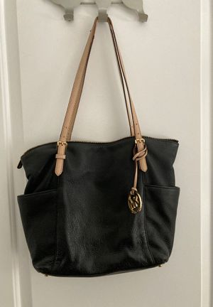 Michael Kors black leather tote bag for Sale in Washington, DC