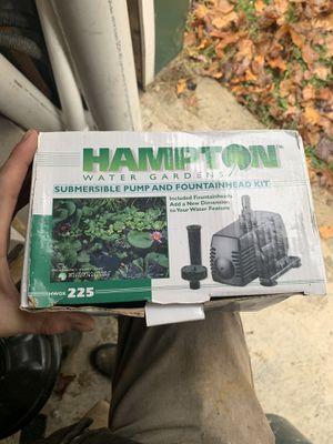 Hampton 225 pond pump for Sale in Morgantown, WV
