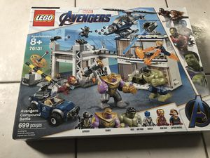 Brand new in box, sealed LEGO avengers 76131 avengers compound battle for Sale in Tarpon Springs, FL