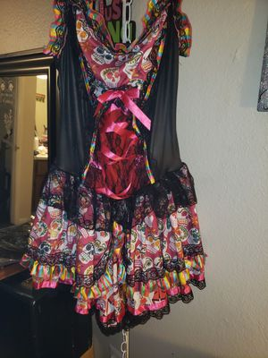 Adults Sugar Skull Halloween costume dress for Sale in Phoenix, AZ