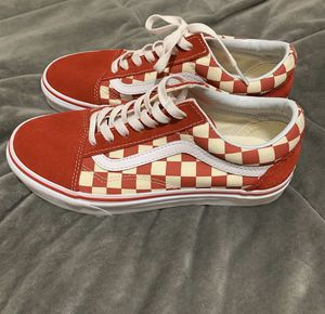 Red Checkered Lace Up Vans for Sale in Wilson, NC