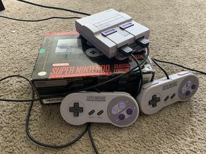 Super Nintendo classic edition for Sale in Silver Spring, MD