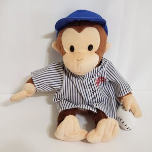 """Applause Curious George Baseball Player Plush Stuffed Animal Doll 12"""" for Sale in Brookfield, IL"""