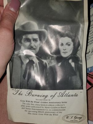 Gone with the wind: Golden anniversary series plate for Sale in San Bernardino, CA