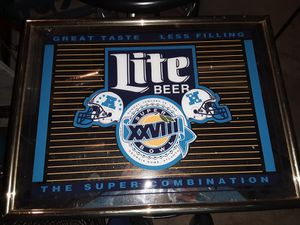Light beer football wall decoration for Sale in Oshkosh, WI