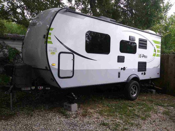 Renting camper travel trailer