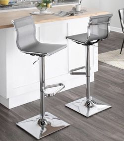 ONE Silver Adjustable Height Barstool (one Barstool Not Two!) - New for Sale in Dallas,  TX