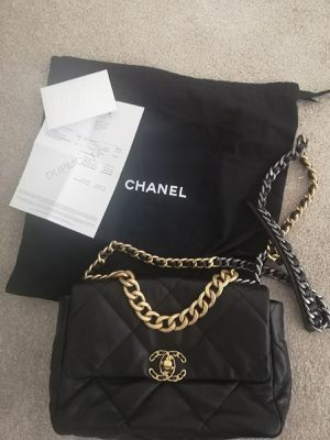 Original Chanel Bag 19 black incl Invoice Copy from Germany for Sale in Miami Beach, FL