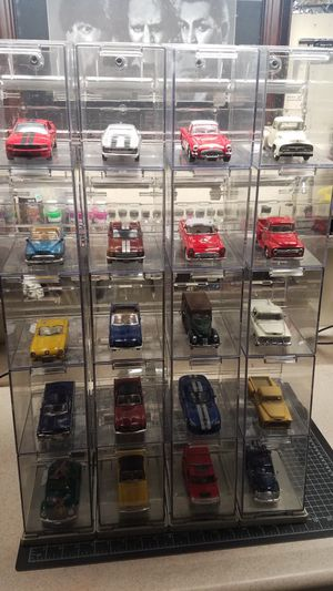 Assorted diecast cars with cases for Sale in Winston-Salem, NC