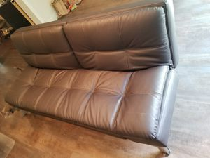 Clean Leather Futon Barely Used for Sale in Portland, OR