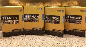 Rosetta Stone Spanish, Japanese, French, and German for Sale in Kennewick, WA