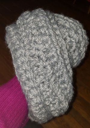 Hand crocheted grey scarf for Sale in Benton, KY