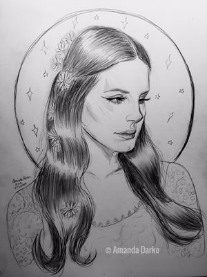 Lana Del Rey Drawing for Sale in Centerville, GA