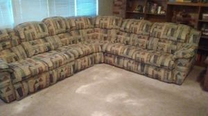 Lazy Boy Sectional w/ Queen Hideaway, Recliners, Storage for Sale in Alexandria, LA