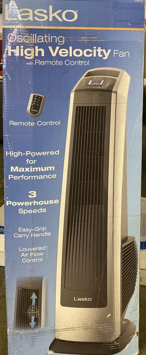 Lasko 35 in. Oscillating High Velocity Fan with Remote Control for Sale in Turlock, CA