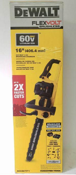 """DeWalt 60v Flexvolt 16"""" Chainsaw 60 Volt Lithium Ion Brushless DCCS670T1 NEW for Sale in St. Petersburg, FL"""