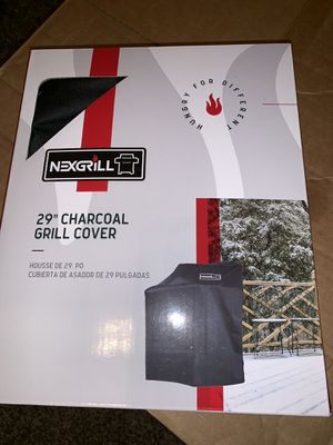 Protect your grill from the heavy rain!! Nexgrill 29 in. Charcoal Grill Cover Bbq Gas Barbecue Fits Inch Kettle Grills brand new sealed for Sale in Dallas, TX