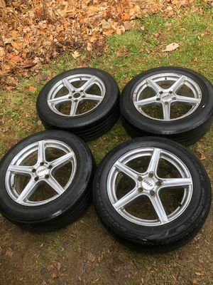 4 18 in 5x120 wheels rims and tires for Sale in Rockville, MD