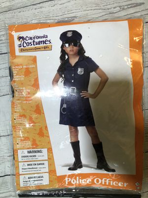 Girls Sz 8-10 police costume for Sale in McKees Rocks, PA