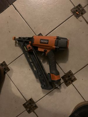 Rigid 15 gauge nail gun for Sale in Chino, CA