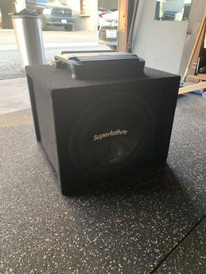 """12"""" Subwoofer With Amp & Box for Sale in Fullerton, CA"""