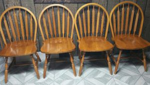 4 SOLID WOOD CHAIRS for Sale in Chicago, IL